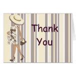Las rayas y Paisley le agradecen Notecard (el AA) Felicitación