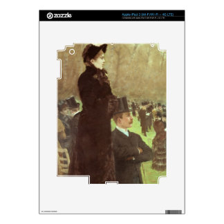 Las razas en Auteuil, París (aceite en lona) iPad 3 Pegatina Skin