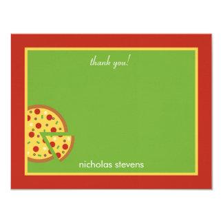 """Las rebanadas de la pizza - gracias cardar invitación 4.25"""" x 5.5"""""""