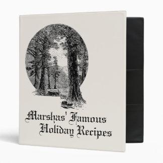 Las recetas del navidad personalizaron la carpeta
