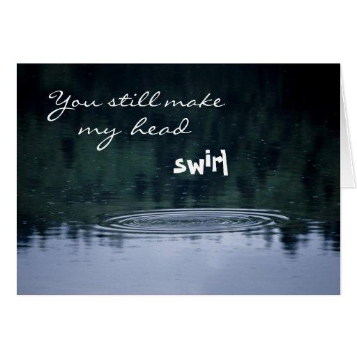 Las reflexiones del agua de la gota de agua, aman  tarjetas