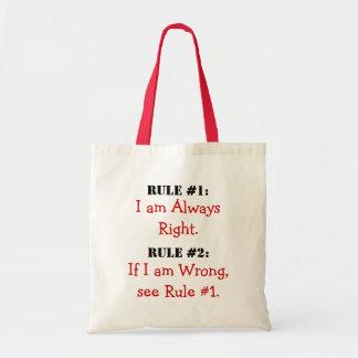 Las reglas bolsa tela barata