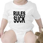 Las reglas chupan trajes de bebé