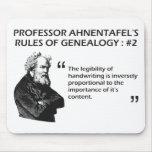 Las reglas de Ahnentafel de la genealogía #2 Tapete De Ratón