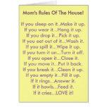 Las reglas de la mamá de la casa felicitacion