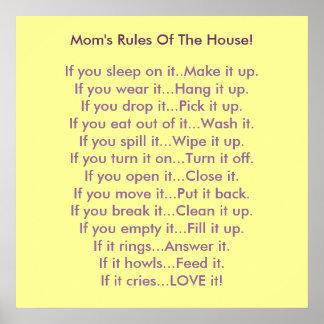 Las reglas de la mamá de la casa póster
