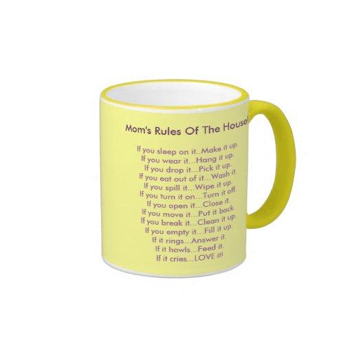 Las reglas de la mamá de la casa tazas