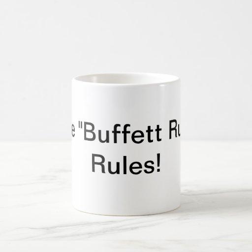 """¡""""Las reglas de la regla de Buffett""""! Taza Básica Blanca"""