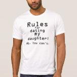 Las reglas de los hombres para fechar a mi hija camisetas