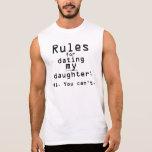 Las reglas de los hombres para fechar a mi hija camiseta sin mangas