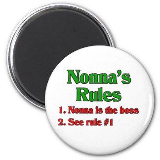 Las reglas de Nonna Imán Redondo 5 Cm