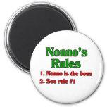 Las reglas de Nonno (abuelo italiano) Imán De Frigorífico