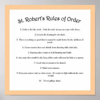 Las reglas de orden de St Robert Póster