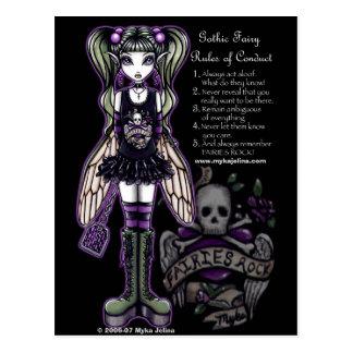 Las reglas de Sadies de Faery gótico del cráneo de Postales