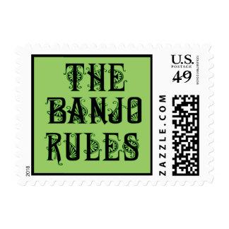 Las reglas del banjo estampillas