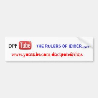las reglas del bumpersticker del idocracy pegatina para auto