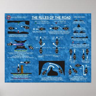 Las reglas del camino póster