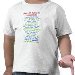 Las reglas del niño del niño de camiseta divertida