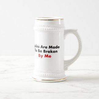 Las reglas se hacen para ser rotas por mí taza de café