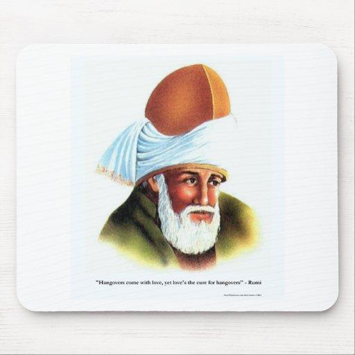 Las resacas/amor de Rumi juntan con te los regalos Alfombrilla De Raton