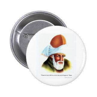 Las resacas/amor de Rumi juntan con te los regalos Pin Redondo De 2 Pulgadas