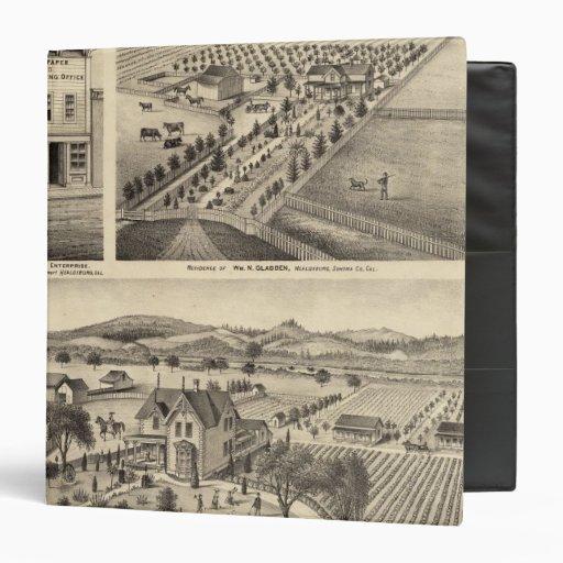 """Las residencias de Wm N Gladden y señora Ina B Mil Carpeta 1 1/2"""""""