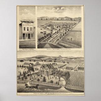 Las residencias de Wm N Gladden y señora Ina B Mil Posters