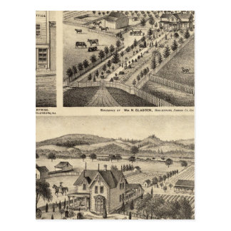 Las residencias de Wm N Gladden y señora Ina B Mil Tarjetas Postales