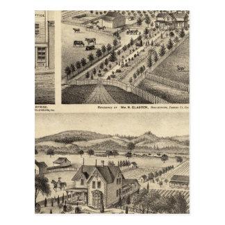 Las residencias de Wm N Gladden y señora Ina B Postal
