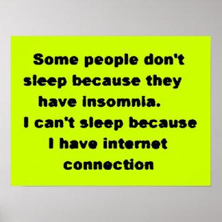Las risas divertidas no pueden dormir los truismos póster