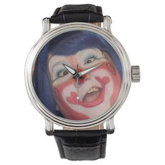Las risitas torpes se cierran para arriba reloj
