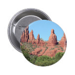 Las rocas acercan a Sedona, Arizona, los E.E.U.U. Pin Redondo De 2 Pulgadas