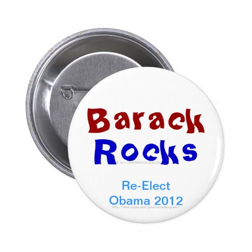 Las rocas de Barack reeligen a Obama 2012 Pins
