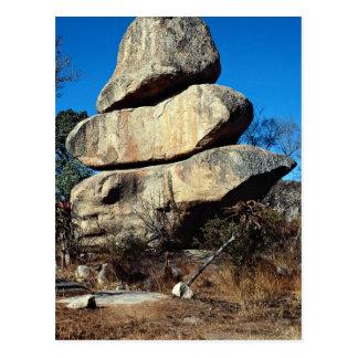 Las rocas de equilibrio, formati de la roca de Har Tarjetas Postales