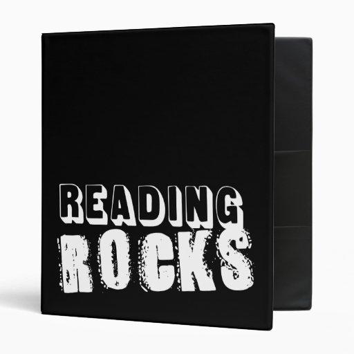 Las rocas de la lectura personalizaron la carpeta