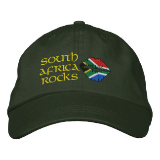 Las rocas de Suráfrica bordaron el gorra Gorros Bordados