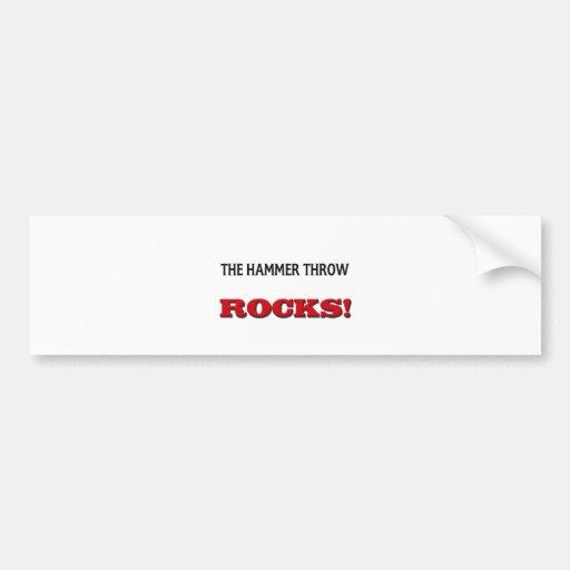 Las rocas del lanzamiento de martillo pegatina para auto