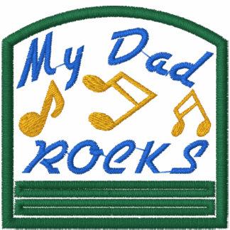 Las rocas del papá bordaron la camisa sudadera encapuchada