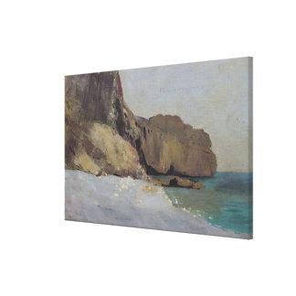 Las rocas en Vallieres, cerca de Royan Impresión En Lienzo