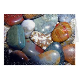 Las rocas pulidas de la mamá tarjeta de felicitación