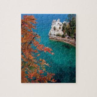 Las rocas representadas lago apuntalan Michigan su Puzzles Con Fotos
