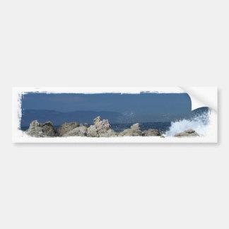 Las rocas y salpican; Ningún texto Pegatina Para Auto