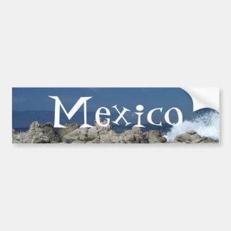 Las rocas y salpican; Recuerdo de México Pegatina Para Auto