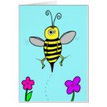Las rodillas de la abeja tarjeta