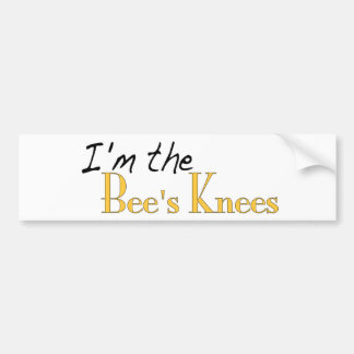 Las rodillas de las abejas pegatina para auto