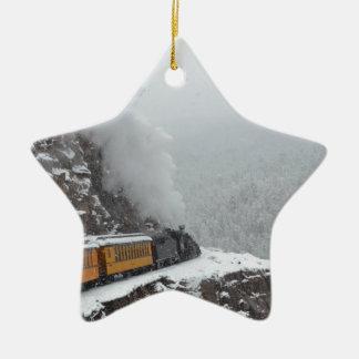 Las rondas expresas polares la curva adorno navideño de cerámica en forma de estrella