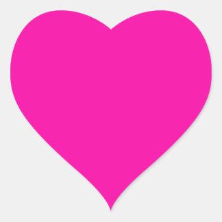 Las rosas fuertes colorean crean para requisitos pegatina en forma de corazón