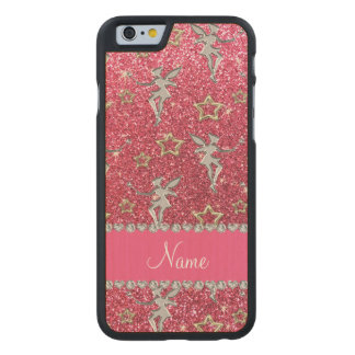 Las rosas fuertes de neón de las estrellas de funda de iPhone 6 carved® slim de arce