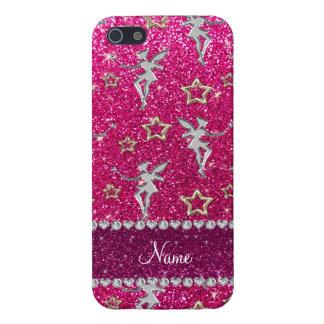 las rosas fuertes de neón de las estrellas de iPhone 5 carcasas