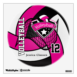 Las rosas fuertes personalizan voleibol vinilo decorativo